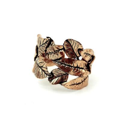 bracciale-ottone dorato-foglie-leaves-fatto a mano-Gold plated brass-bracelet-hand made-matteo macallè