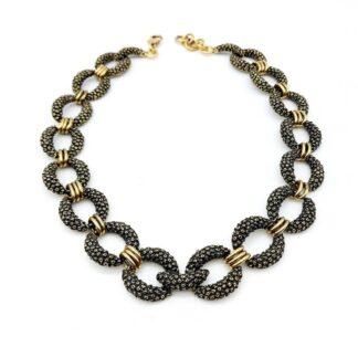 collana-ottone dorato-cerchi-circle-fatto a mano-Gold plated brass-necklace-hand made-matteo macallè