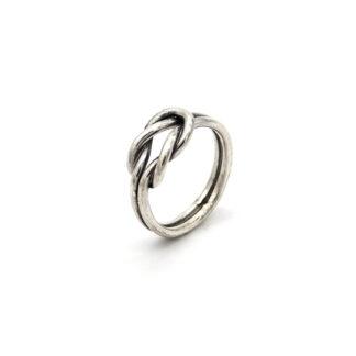 Anello-argento 925-nodo-fatto a mano-donna-handmade-node-sterling silver