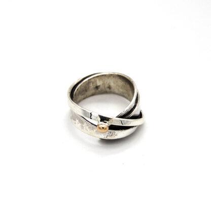 Anello-argento 925-bronzo-fatto a mano-donna-sterling silver-bronze
