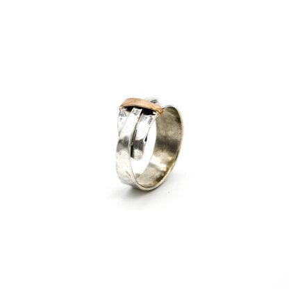 Anello-argento 925-bronzo-fatto a mano-sterling silver-ring-bronze