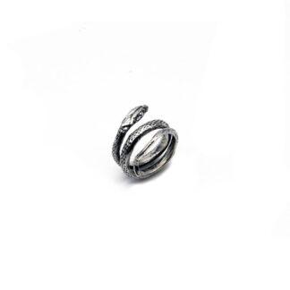Anello-argento 925-serpente-fatto a mano-donna