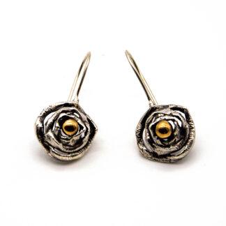 orecchini-argento 925-fatto a mano-sterling silver-earrings-hand made-matteo macallè-PALLINA-BALL-BRONZO-BRONZE