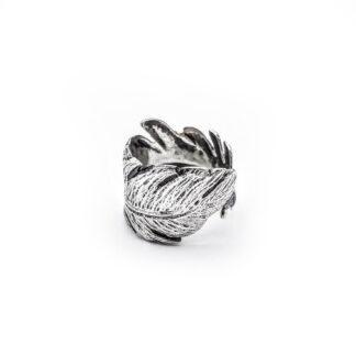 Anello-argento 925-piuma-fatto a mano-sterling siler-ring-feather-handmade