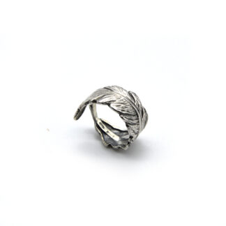 Anello-argento 925-piuma-fatto a mano-sterling siler-ring-feather-handmade