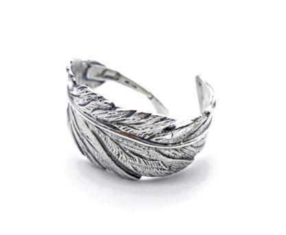 bracciale-argento 925-piuma-fatto a mano-sterling silver-bracelet-feather-handmade