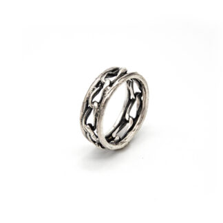 Anello-argento 925-maglie-catena-fatto a mano-sterling siler-ring-chain-meshes