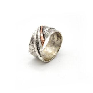 Anello-argento 925-rame-fatto a mano-sterling silver-ring-handmade-copper