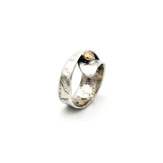 Anello-argento 925-bronzo-fatto a mano-sterling silver-ring-handmade-bronze