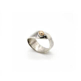 Anello 925-argento-bronzo-fatto a mano-sterling silver-ring-bronze