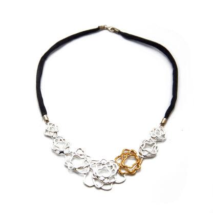 collana-argento 925-fatto a mano-sterling silver-necklace-hand made-matteo macallè-copper-rame-flower-fiori