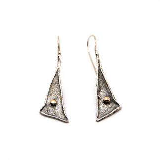 orecchini-collana-argento 925-fatto a mano-sterling silver-earrings-hand made-matteo macallè-bronze-ball-bronzo-pallino-triangolo