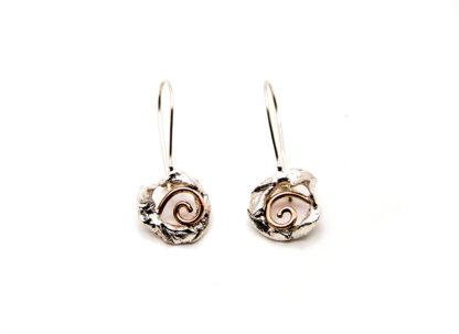 orecchini-collana-argento 925-fatto a mano-sterling silver-earrings-hand made-matteo macallè-spiral-spirale-rame-copper