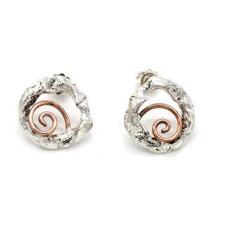orecchini-collana-argento 925-fatto a mano-sterling silver-earrings-hand made-matteo macallè-spiral-spirale-rame.copper orecchini-collana-argento 925-fatto a mano-sterling silver-earrings-hand made-matteo macallè-spiral-spirale-rame-copper