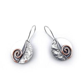 orecchini-collana-argento 925-fatto a mano-sterling silver-earrings-hand made-matteo macallè-rame-copper-spirale-spirale