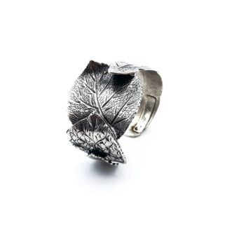 Bracciale-argento 925-foglia-fatto a mano-sterling silver-bracelet-leaf