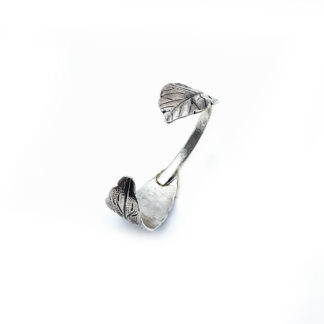 bracciale-argento 925-fatto a mano-sterling silver-bracelet-hand made-matteo macallè-foglie-leaves