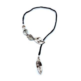 collana-argento 925-foglia-fatto a mano-sterling silver-necklace-leaf