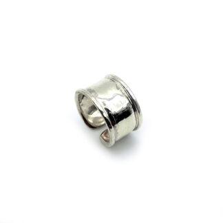 anello argento 925, martellato, regolabile, fascia,fatto a mano