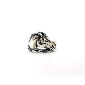 Anello-argento 925-fatto a mano-sterling silver-ring-anello cavallo-horse ring-regolabile-adjustable size