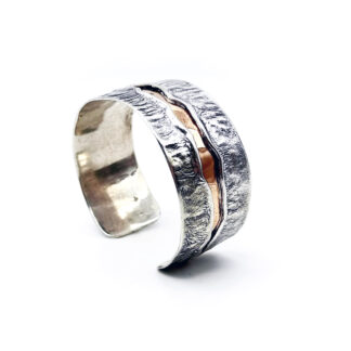 bracciale-argento 925 e bronzo-fatto a mano-sterling silver-bracelet-hand made-matteo macallè