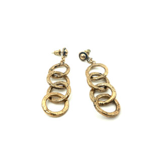 orecchini-ottone dorato-cerchi-circle-hammered-martellati-fatto a mano-Gold plated brass-earring-hand made-matteo macallè