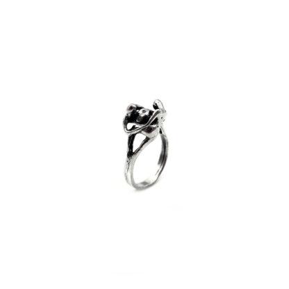 anello- fede-persone abbraccio-people-hug-argento 925-fatto a mano-sterling silver-ring-handmade