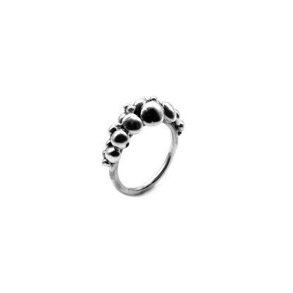 anello-argento 925-fatto a mano-sterling silver-ring-hand made-matteo macallè-perlage-pallini-balls