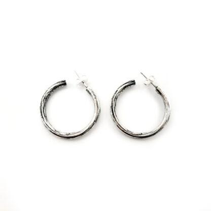 orecchini-legno-wood--argento 925-fatto a mano-sterling silver-earrings-handmade-matteo macallè
