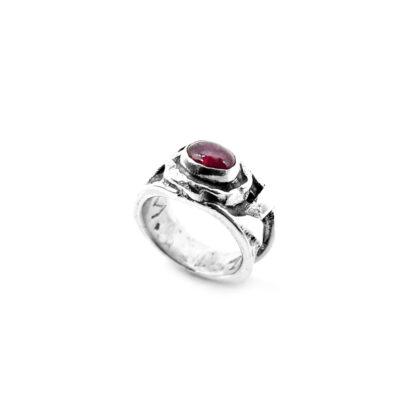 anello-tormalina rosa-pink tormalinetra-argento 925-fatto a mano-sterling silver-ring-handmade-matteo macallè-stone-